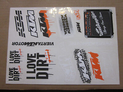 UFO Seitenteile passt an KTM EXC EGS EXE SX 125-525 98-03 orange
