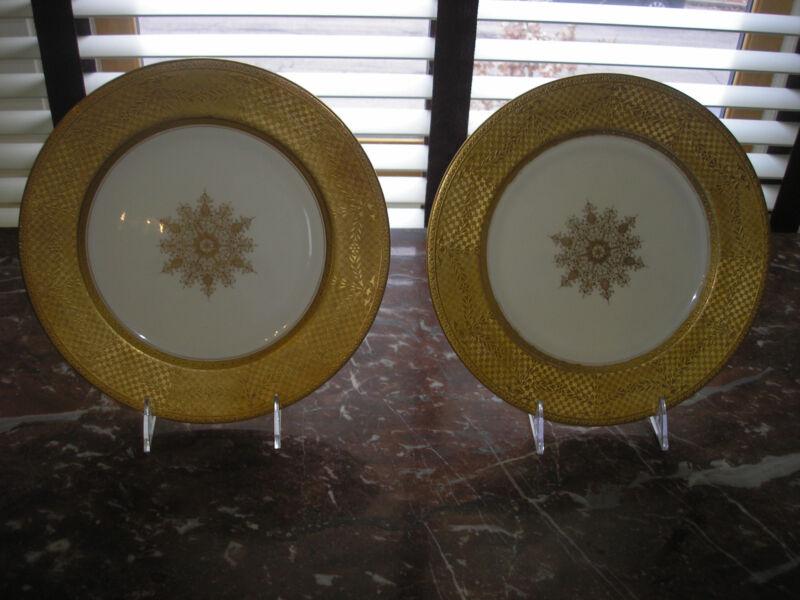 SET 8 antiq COALPORT, ENGLAND china dinner plates CIRCA 1890