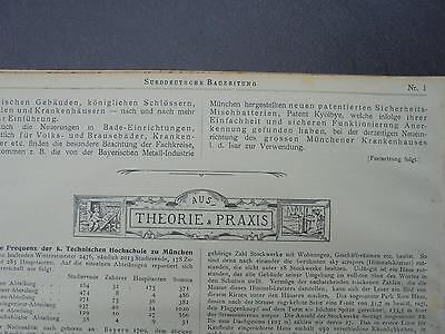 1901 Sdt. Bauzeitung 1 / Meran Stadt-Theater / Landshut Martinskirche / München