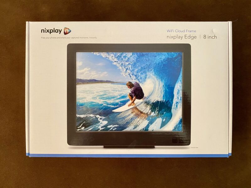 Nixplay Edge 8 inch Wi-fi Cloud Digital Photo Frame