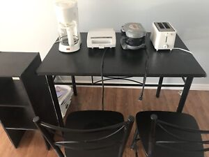 Moving sale, table, desk, chairs mattress and more.