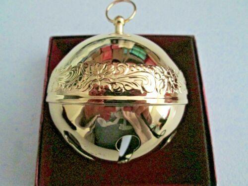 NIB 2004 Wallace Annual Gold Plate Sleigh Bell Christmas Ornament