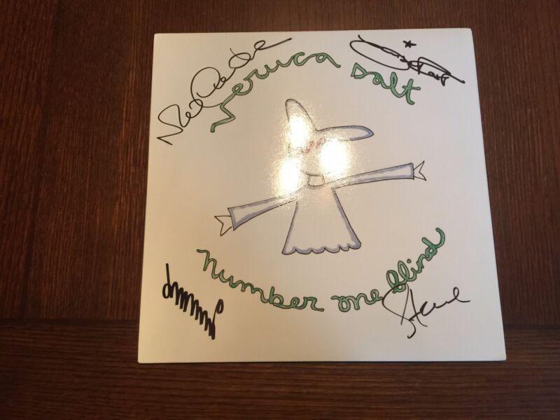 AUTOGRAPHED VERUCA SALT Number One Blind PINK Vinyl Record LP Signed