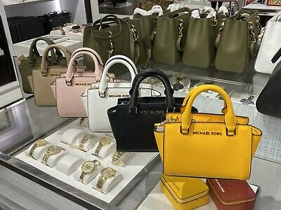 NWT MICHAEL KORS XS Mini Selma Saffiano Leather Crossbody Bag