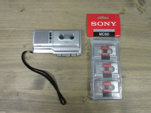 Sony Voice Recorder Clear Voice Plus & VOR Microcassette Recorder M-670V + Tapes