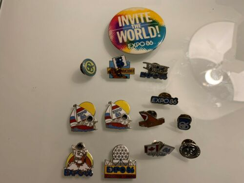 VINTAGE PIN COLLECTION X16 LOT VANCOUVER EXPO 86 PLEASE READ