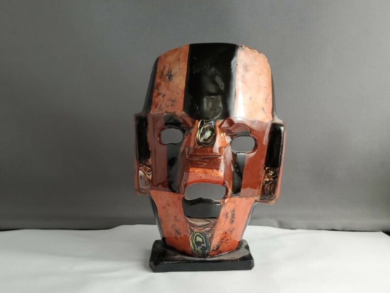 Abilone Inlay Mexican Aztec Mask