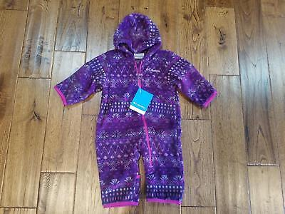 NWT Girl 18-24 M Columbia Fireside Cuddle Fleece Bunting Snow Suit Infant -