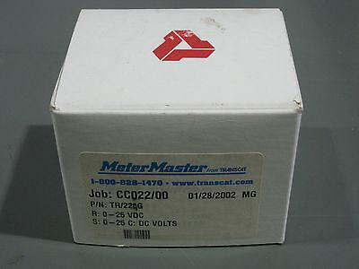New In Box Meter Master Tr22og Panel Meter 0-25 Volts Dc Transcat