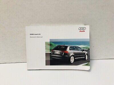 2008 AUDI A3 OWNERS MANUAL  Audi Owners Manual