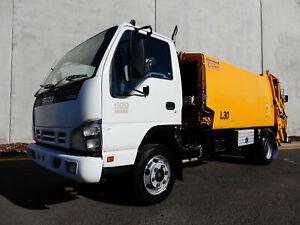 2005 Isuzu NPR400 Rear Loader Garbage Truck Bell Park Geelong City Preview