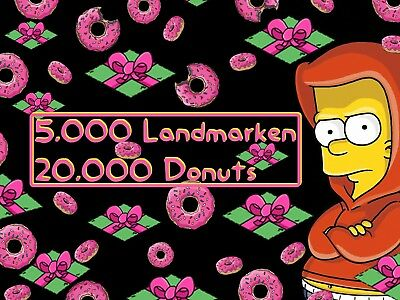 Die Simpsons: Springfield Tapped Out Spiele App - 20.000 Donuts 5.000