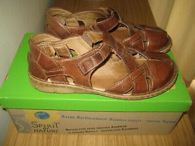 Ladies' JOSEF SEIBEL Brown Leather Sandals . Size 4 . (37)
