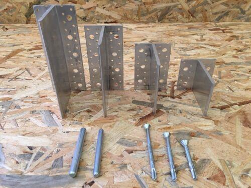 Staffa supporto trave in legno ALUFIX Unifix in alluminio H 80-120-160-200mmx109