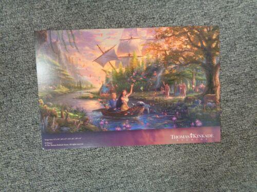 Thomas Kinkade Studio Postcard Pocahontas Colors of Love Disney