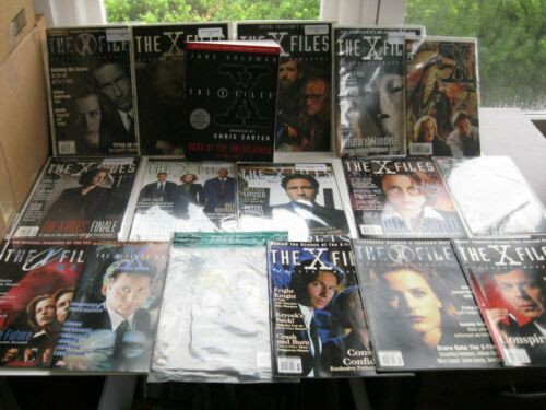 The X-Files Official Magazine, Annual, & Book Lot 17 Pieces! Scully Mulder Fox