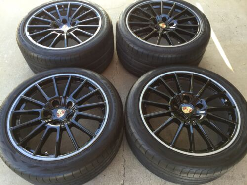 "20"" Porsche Panamera Made In Germany Oem Factory Sport Design Black Wheels Tires"