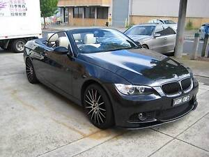 2008 BMW 3 Convertible 335I BLACK/CREAM 63,000 KLMS Heidelberg Heights Banyule Area Preview