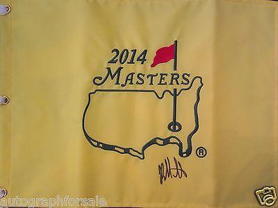 Bubba Watson Unterzeichnet Auto Signiert 2014 Masters Golf Pin-Flagge Fahne in