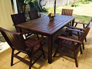 7-piece Outdoor Patio Table & Chairs Perth Perth City Area Preview
