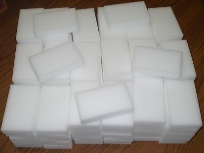 100 BULK PACK Magic Sponge Eraser Melamine Cleaning Foam 3/4