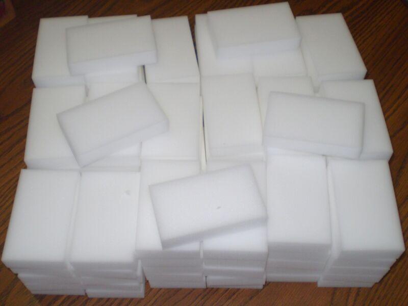 """100 Bulk Pack Magic Sponge Eraser Melamine Cleaning Foam 3/4"""" Thick Ohio Ebayer"""