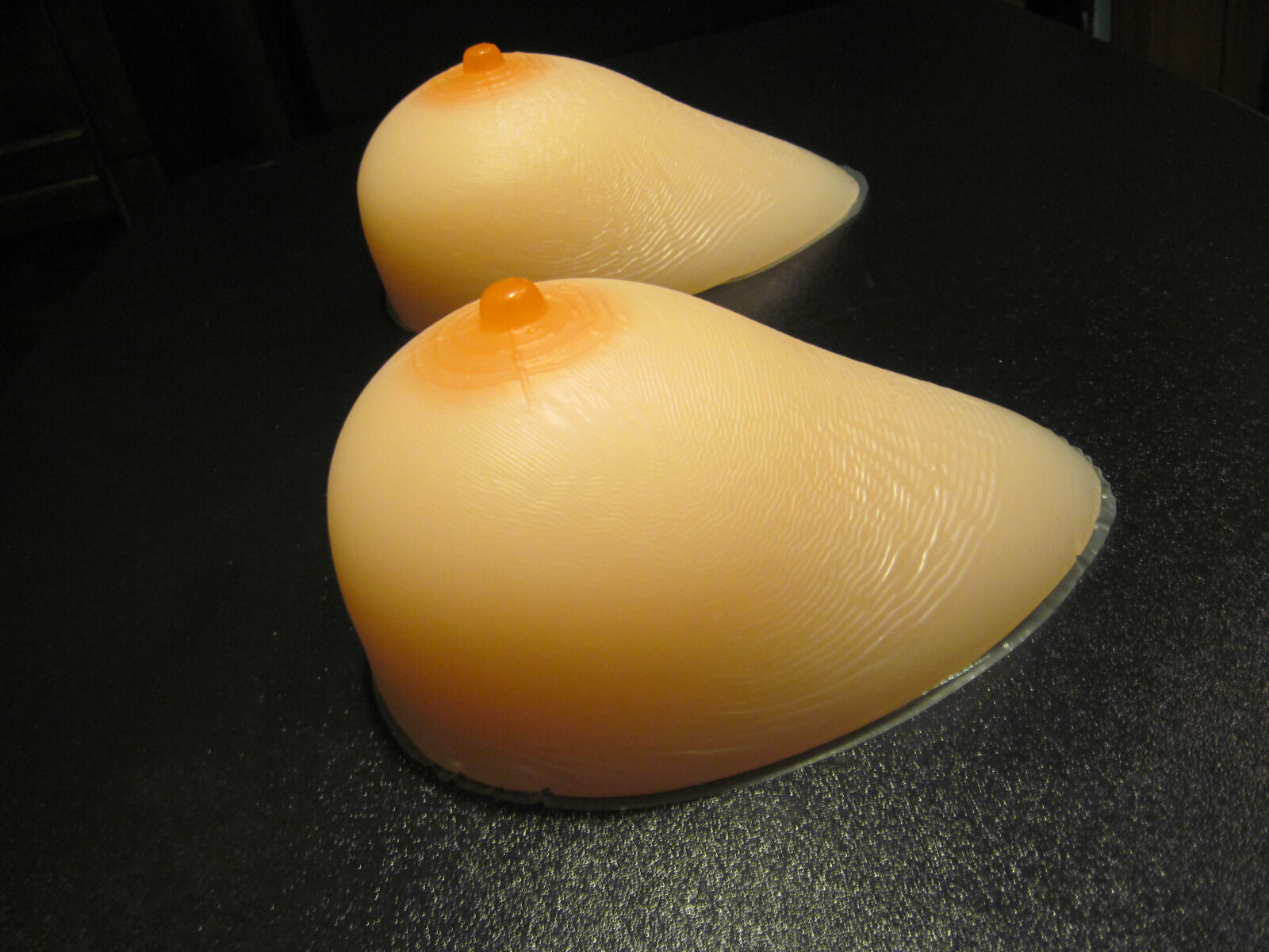 Silicone Breast Forms - Teardrop Shape - Large Size D Cup...