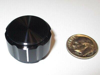 Alco Solid Aluminum Knob .937 Od For 14 Shaft Black Windicator Line Nos