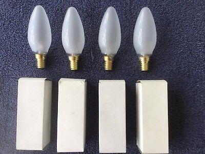 - 4 x 40-Watt Incandescent E14 Base Torpedo Tip Frosted 125 - 130 V Light Bulb