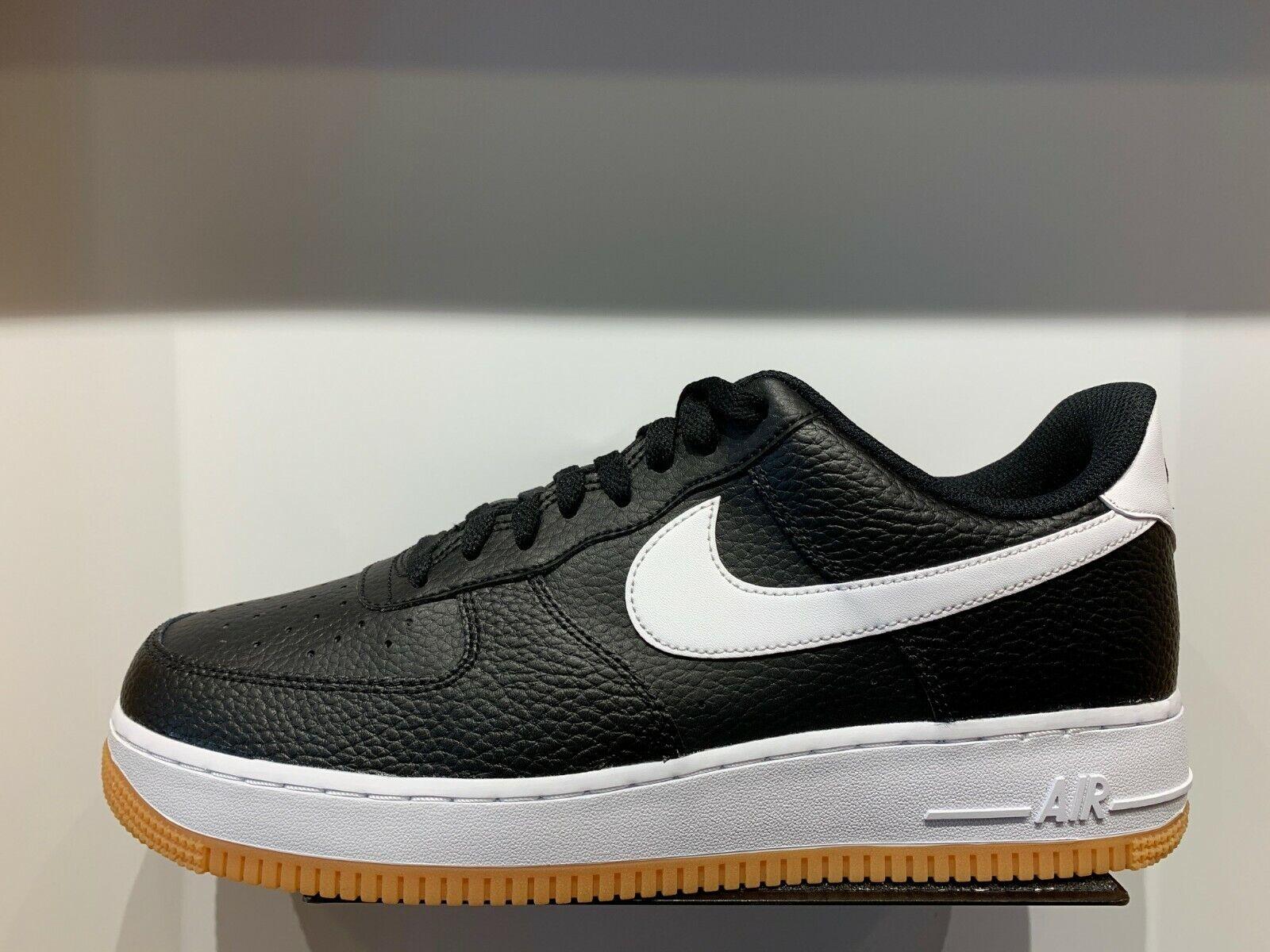 Nike Air Force One 1 Low Black White Gum Bottom Men GS Size 4Y 13 AF1