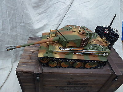 Torro 1/16 RC German Tiger 1 BB Tank 2.4GHz Metal Camo 360 Mid Edition WoodenBox