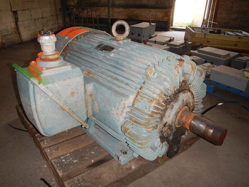 150 Hp Teco-west Ac Electric Motor, 900 Rpm, 449t Frame, Tefc, 575 V, Eok