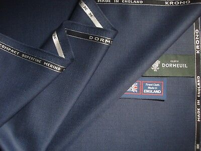 """DORMEUIL """"ROYAL OPERA"""" WOOL,SILK,CASHMERE SUITING FABRIC 3.4 m.-MADE IN ENGLAND"""