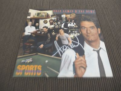 Huey Lewis   The News Sports Autographed Signed Lp Album Psa Guaranteed