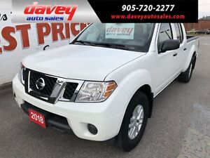 2018 Nissan Frontier SV 4X4, CREW CAB, BACKUP CAMERA