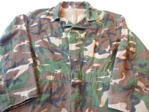 Vintage RANGER Woodland Camo Coverall Jumpsuit Men's Large Hunting Army USA
