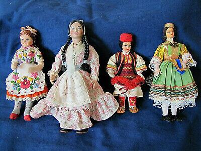 World Culture Costumes (VINTAGE LOT OF ETHNIC WORLD CULTURAL DOLLS COSTUME SOUVENIR DOLL)