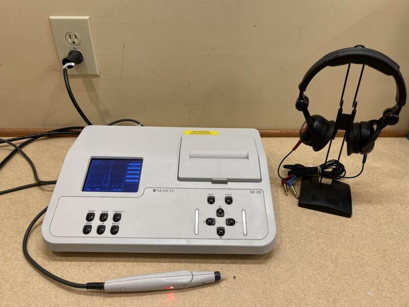 Maico MI26 Audiometer/Tymp (IPSI) Combo w/ NEW Calibration Cert.
