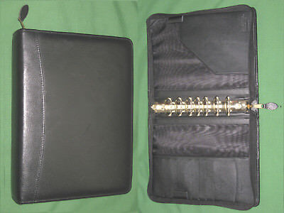 Classic 1.5 Black Leather Cambridge Day Runner Planner Binder Franklin Covey