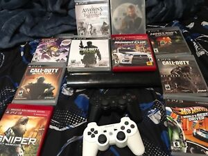 PS3 2 controller 10 games are extra