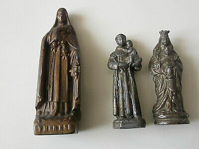 2013/38      3    OLD   STATUETTES  STe THERESE .ST ANTOINE.VIERGE ET CHRIST