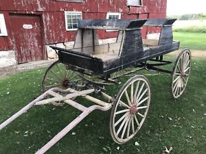 Antique horse drawn buggy's and wagons