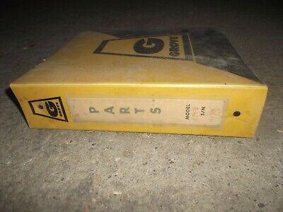 Grove Rt59 Rough Terrain Crane Factory Parts Catalog Manual