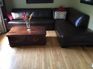 Leather Sectional - NEW PRICE