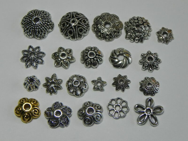 Tibetan Silver Bead caps Findings 5mm, 6mm, 9mm, 10mm, 11mm 12mm ✰✰USA Seller✰✰