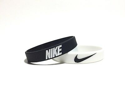 Nike Black & White Bracelet 2-PACK Wristbands Baller ID - FAST SHIPPING