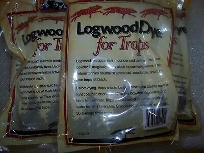 TRAPPING SUPPLIES   LOGWOOD TRAP DIE 1 POUND BAGS LOT OF 5  BROWN Mint 5 Pound Bag