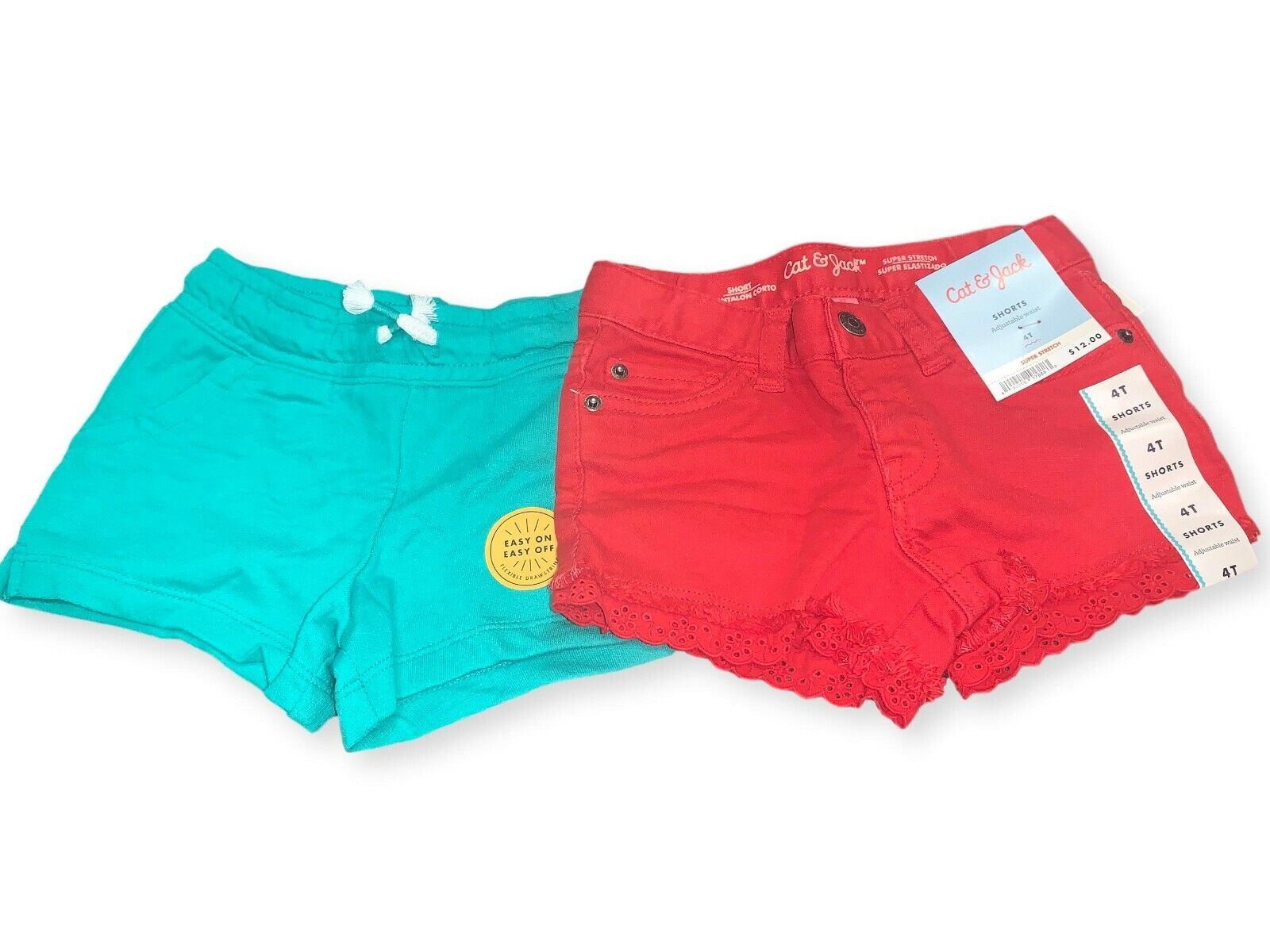 Cat & Jack Girls Summer shorts 2 pack- 4T-NWT Baby