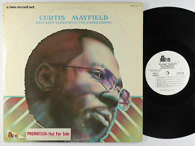 Curtis Mayfield - His Early Years With The Impressions 2xLP - ABC VG++ PROMO