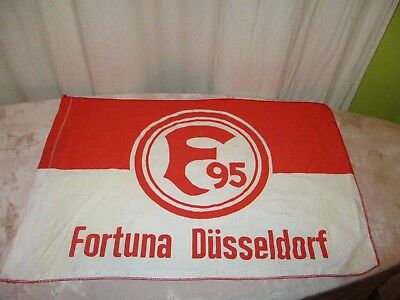 Fortuna Düsseldorf Originale kleine Fahne/Flagge 70iger Jahre Wappen
